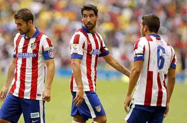 Los jugadores del Atlético de Madrid durante un encuentro
