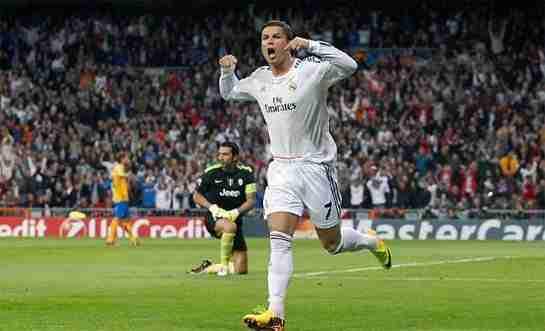 Cristiano Ronaldo celebrando gol Juventus