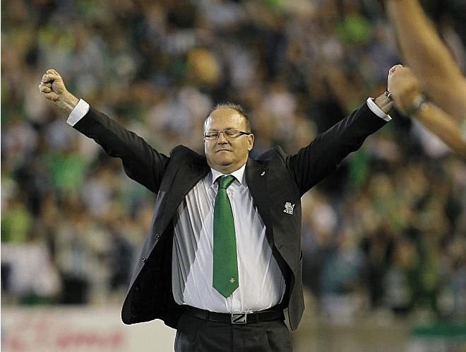 Pepe Mel celebra Betis