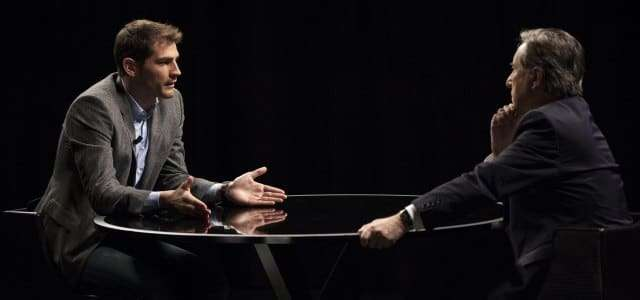 Iker Casillas en su charla con Iñaki Gabilondo