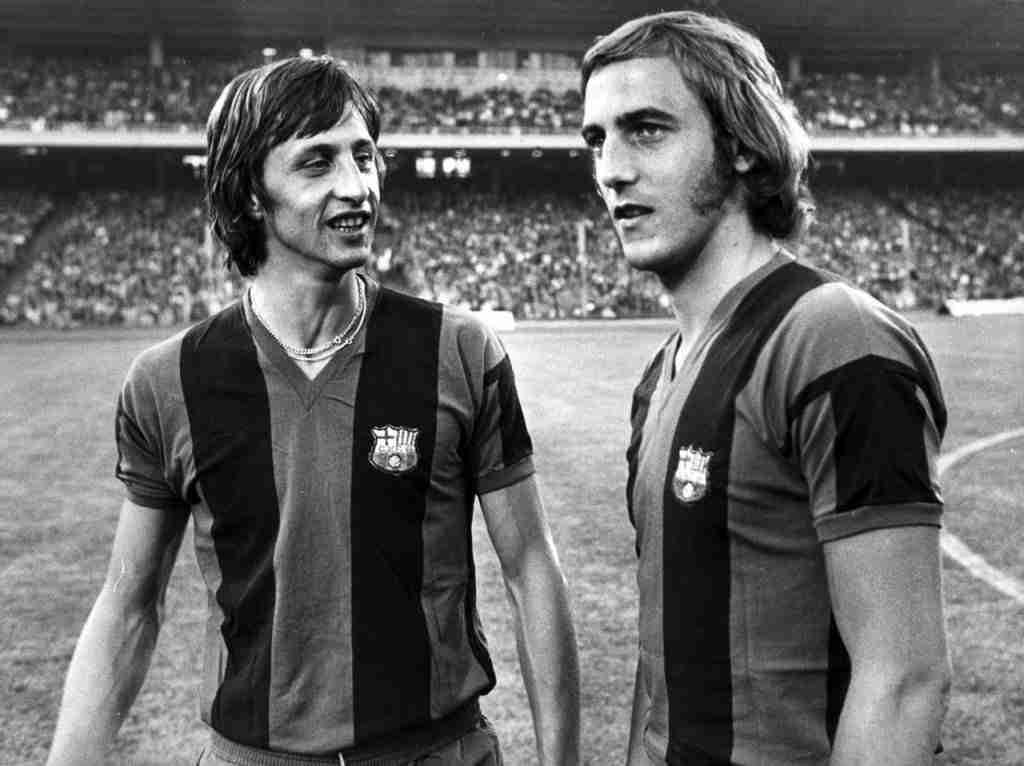 Cruyff y Neeskens Barcelona
