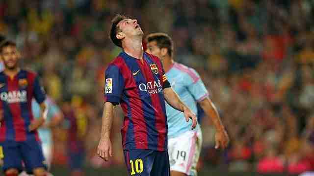 Messi se lamenta contra el Celta