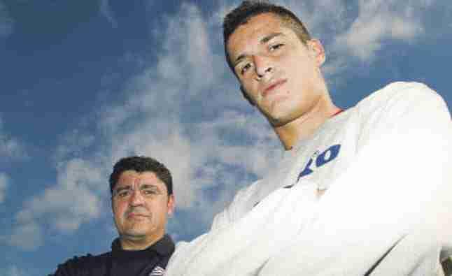 Ángel y Marc Pedraza, padre e hijo, juntos en el Hospitalet