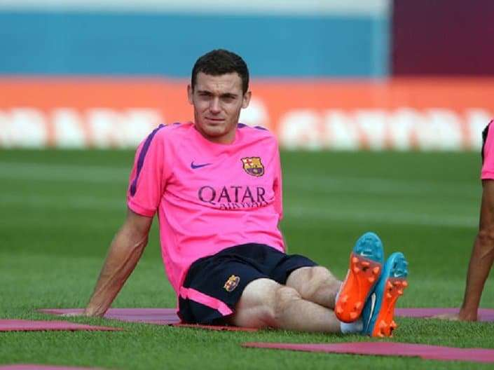 Thomas Vermaelen entrenamiento Barcelona