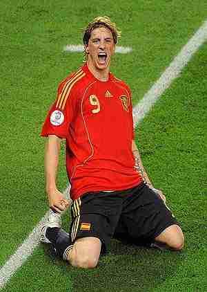 Fernando Torres celebrando gol Eurocopa