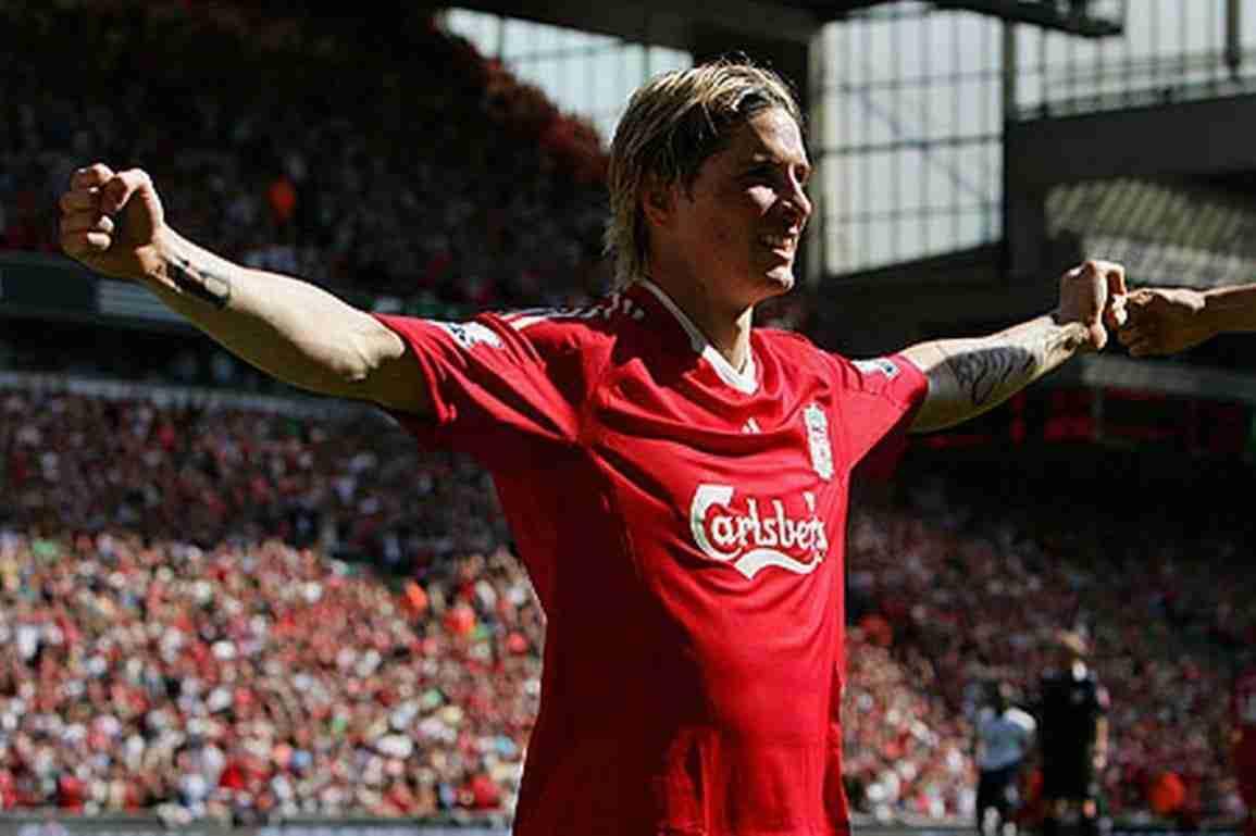 Fernando Torres celebrando gol Liverpool