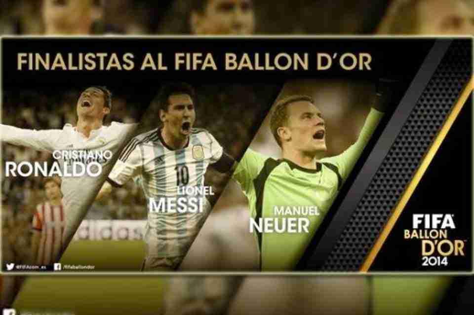 Finalistas Balón de Oro 2015