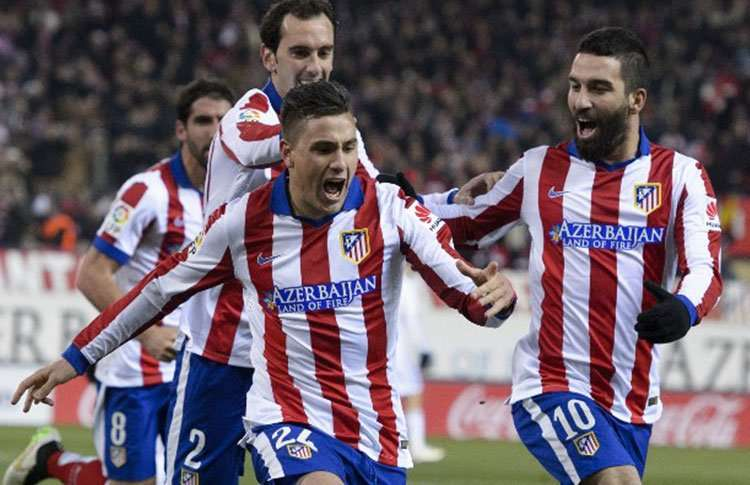 Giménez celebra su gol contra el Real Madrid