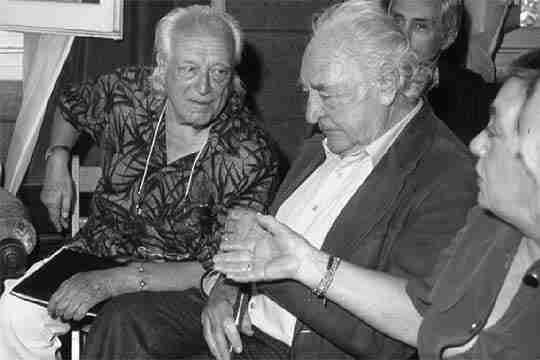 Rafael Alberti y Gabriel Celaya