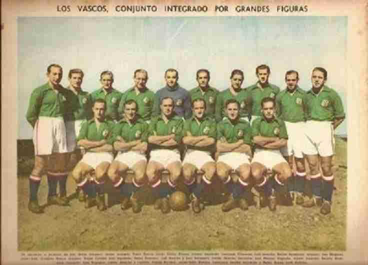 La selección vasca que quedaría subcampeona de México como CD Euzkadi.