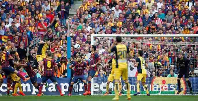 Godín gol campeón Atlético de Madrid Liga 13/14