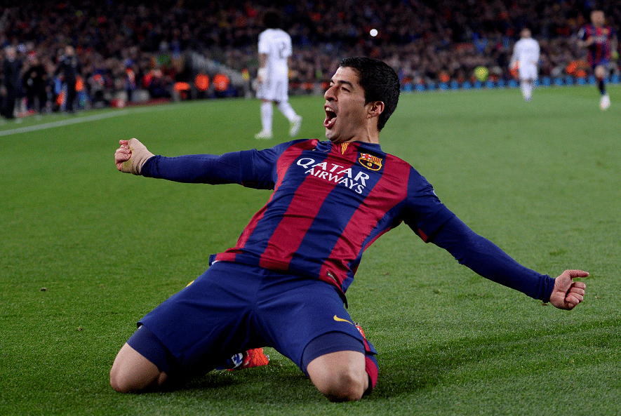 Luis Suarez celebra gol Real Madrid