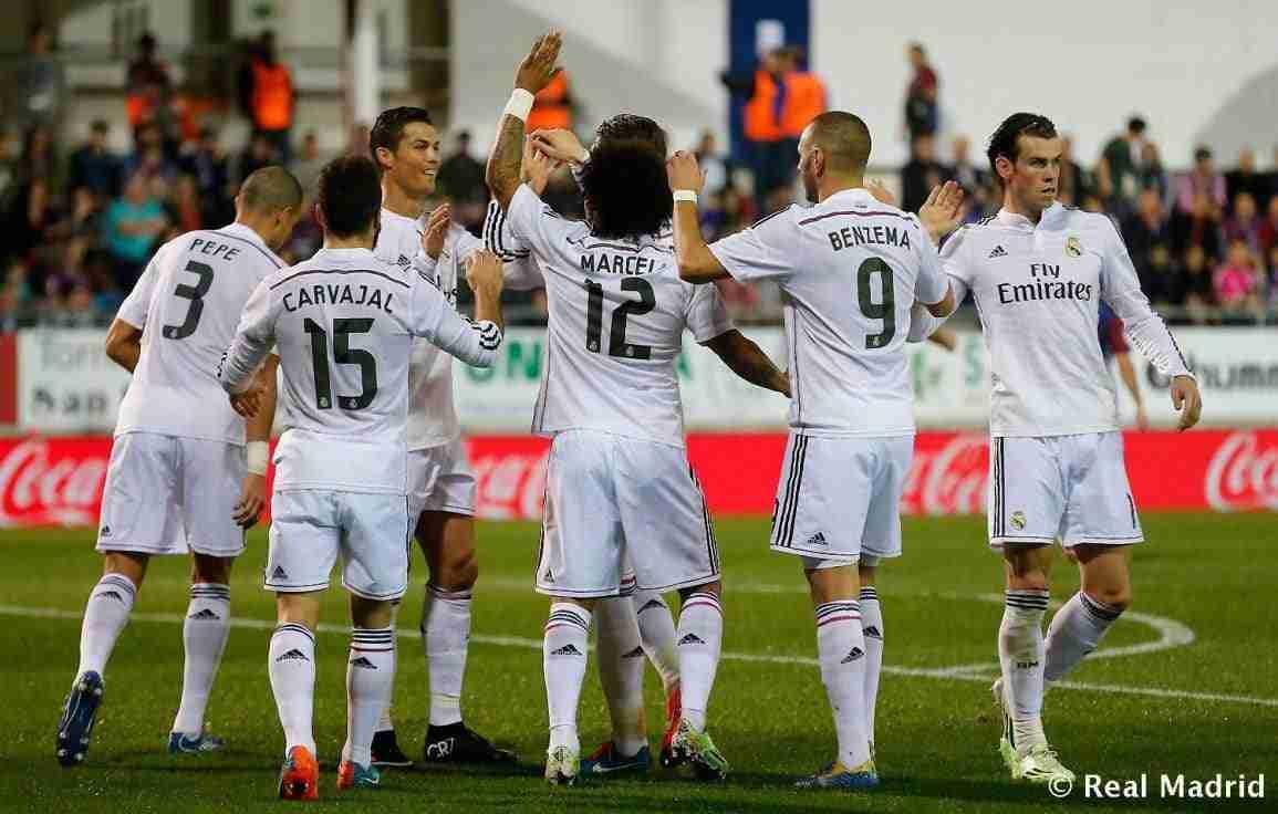 Madrid celebra gol