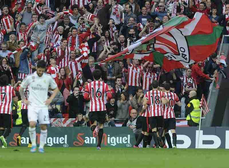 Athletic celebra gol contra Real Madrid