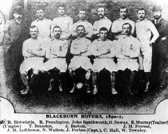 Alineación del Blackburn Rovers en 1890