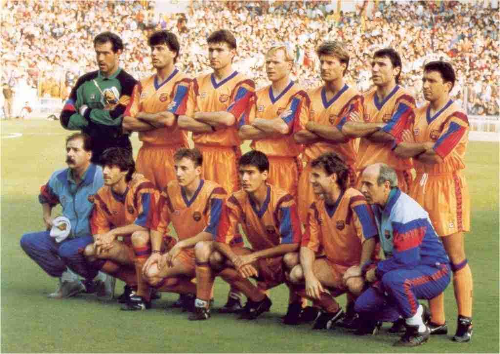 Alineación del Dream Team en la final contra la Sampdoria