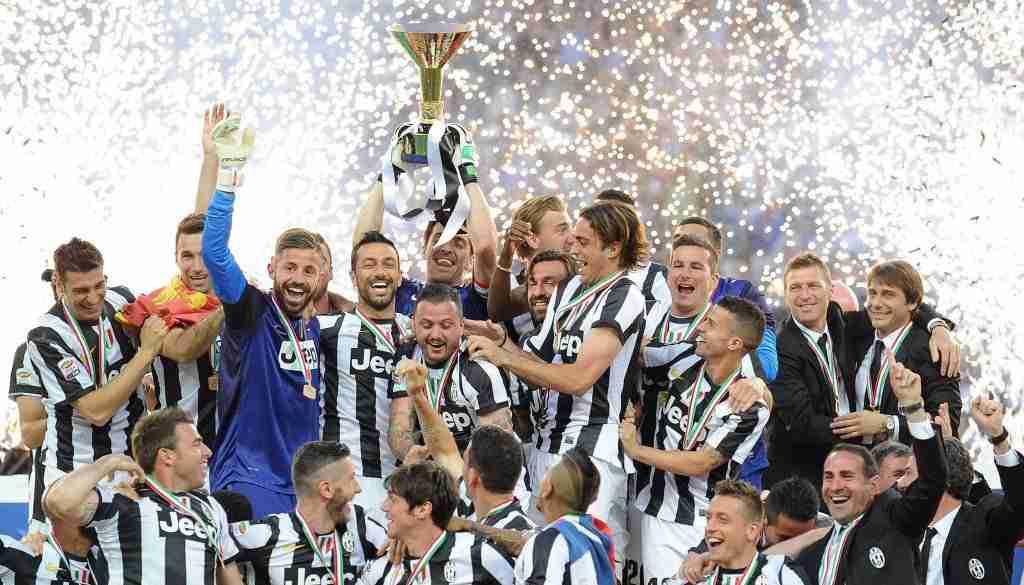 La Juventus celebrando el Scudetto