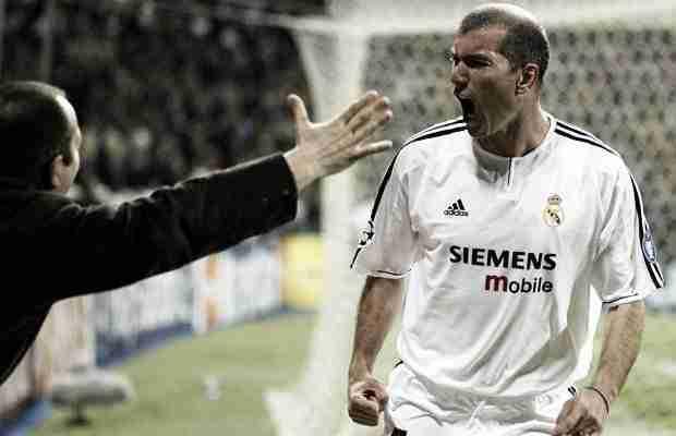 Zidane celebrando un gol