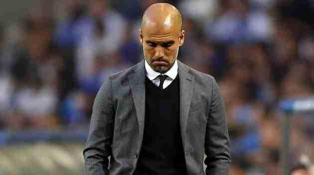 Guardiola triste en el partido Oporto-Bayern