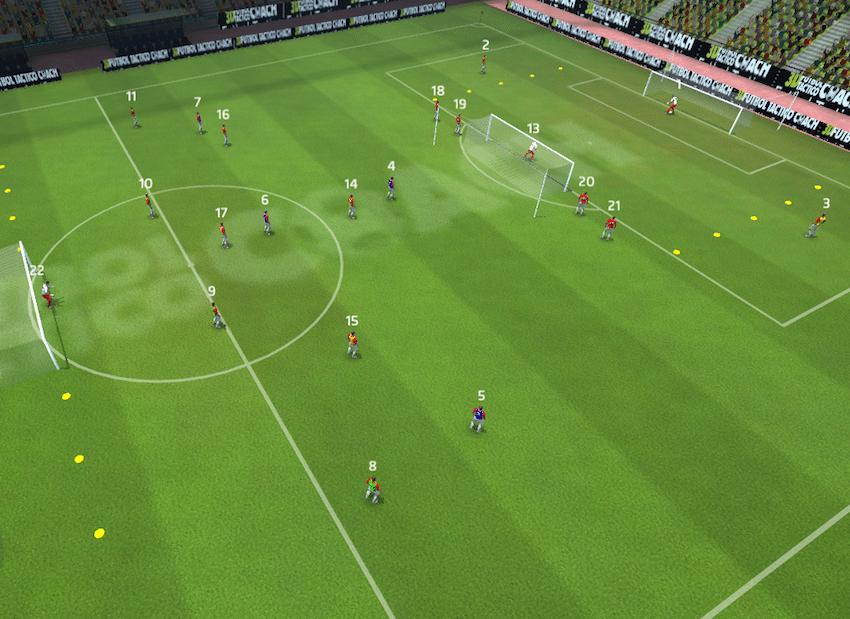 Ejercicios tácticos fútbol