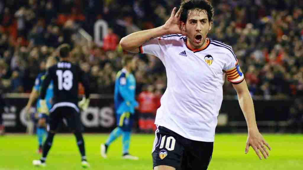 Dani Parejo celebra gol Valencia