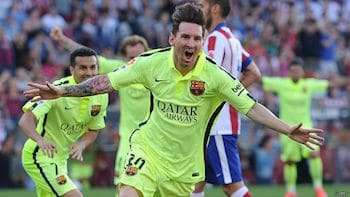 Messi gol Atlético Madrid Fútbol Club Barcelona
