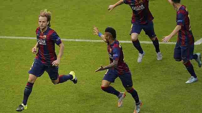 Rakitic celebra gol