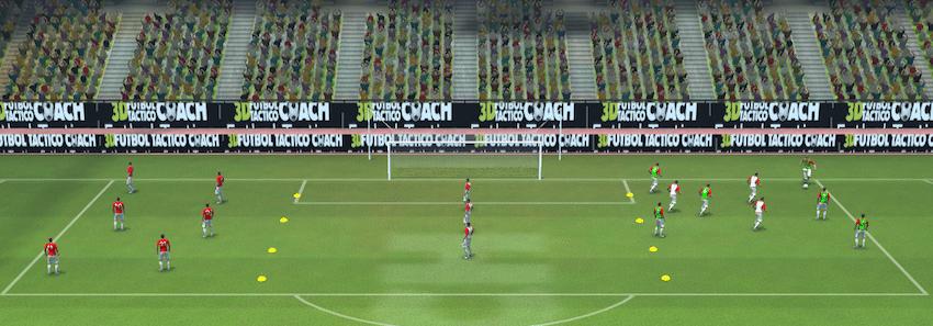 ejercicios físico-tácticos fútbol