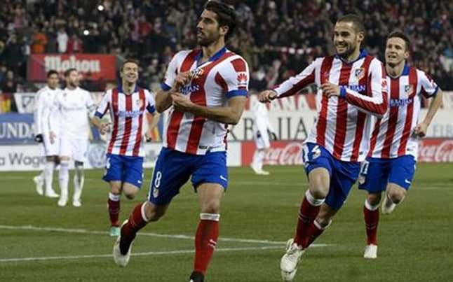 Raúl García celebra gol Atlético