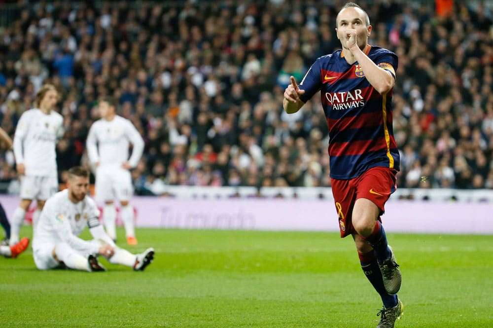 Andrés Iniesta celebra su gol