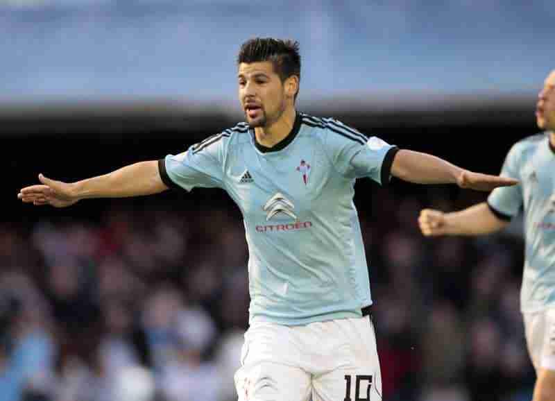 Nolito celebra gol Celta