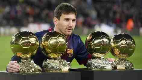 Messi 4 Balón de oro