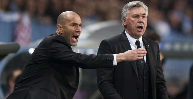 Zidane y Ancelotti