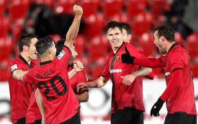 Celebración gol del Mallorca