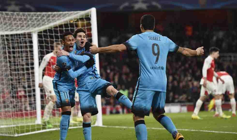 Arsenal barcelona neyamar messi suárez
