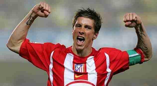 Fernando Torres celebra gol Atlético