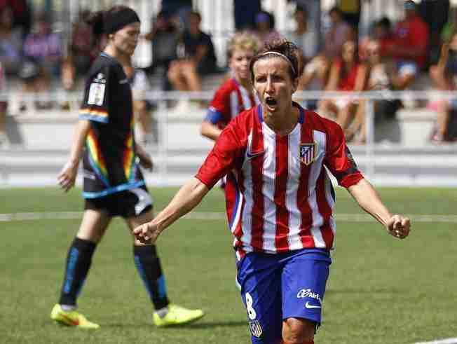 Sonia Bermúdez celebra gol Atlético Féminas