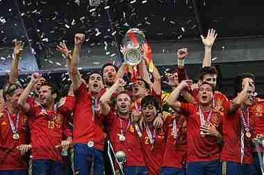 España celebra Eurocopa