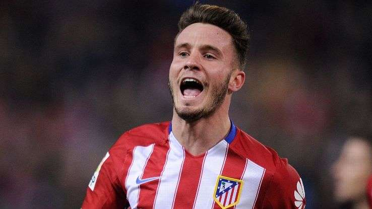 Saúl celebra gol Atlético