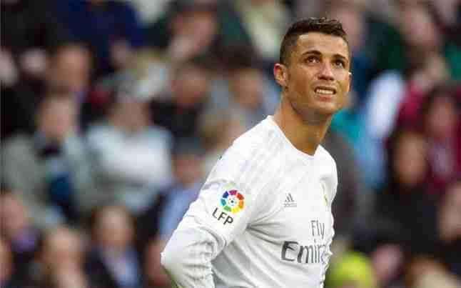 Cristiano Ronaldo desesperado
