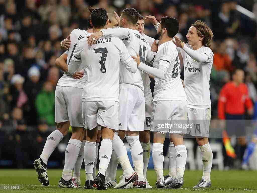 Real Madrid celebración gol