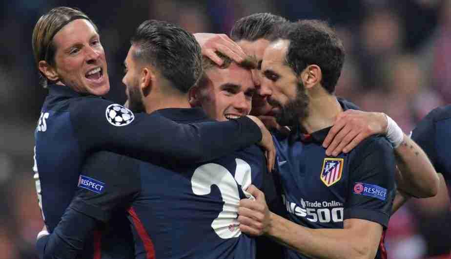 Celebración gol Atlético