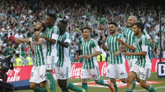 Real Betis celebra gol