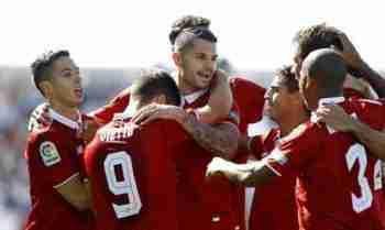 Sevilla celebra gol