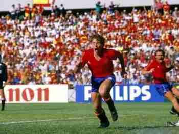 Butragueño gol Dinamarca