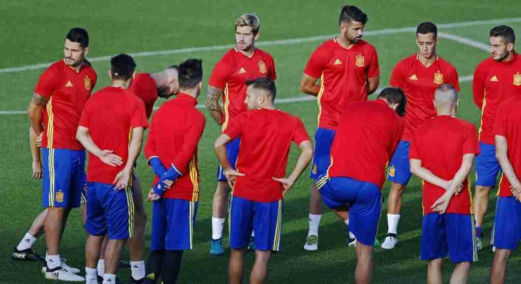 Entrenamiento selección española