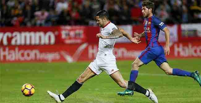 Gol Vitolo contra Barcelona