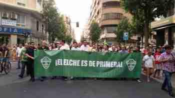 Manifestación afición Elche