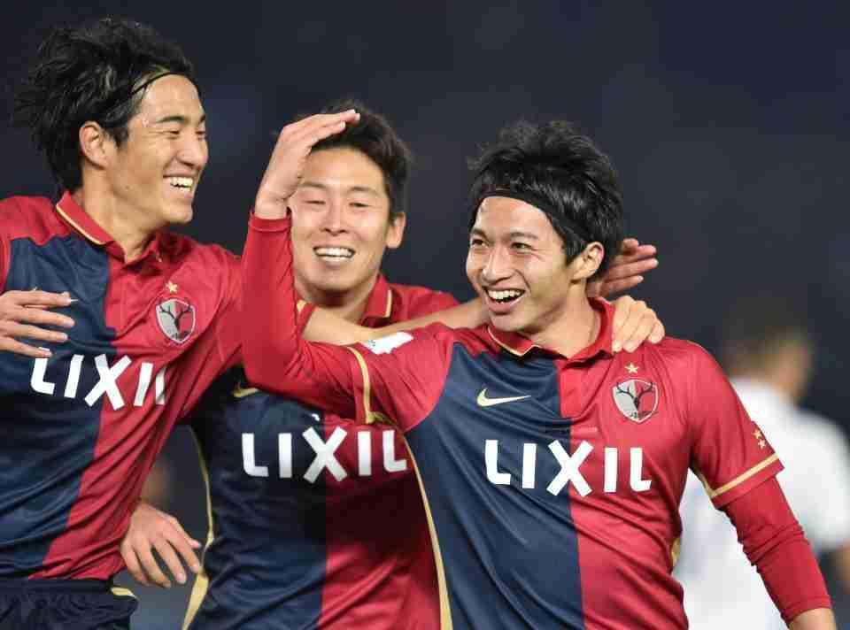 Kashima Antlers celebra gol contra Madrid