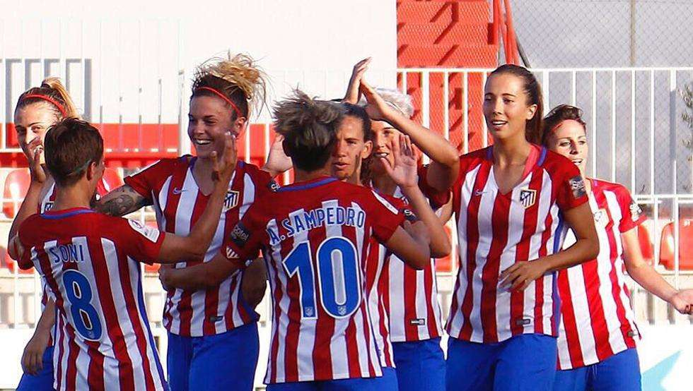 Atlético Féminas celebra gol